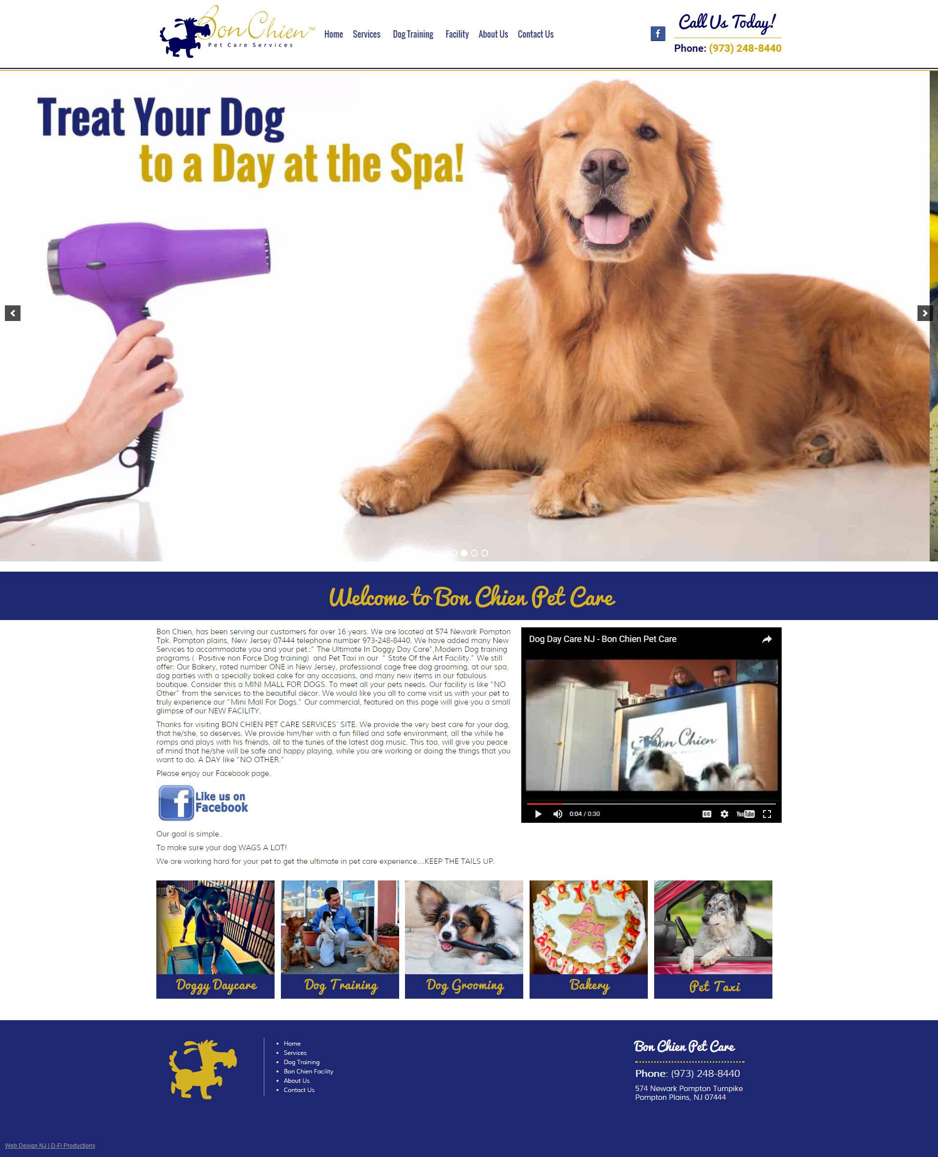 Bon Chien Pet Care D Fi Productions Nj Web Design